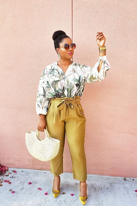 Launch into Labor Day…Stylish Looks for a Weekend Getaway, labor day weekend outfit, palm print blouse, palm print outfit