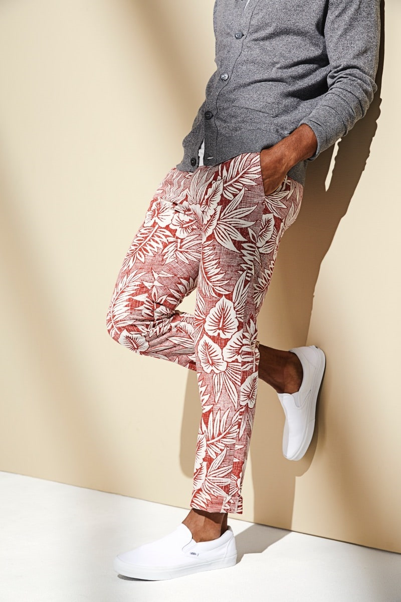 Launch into Labor Day…Stylish Looks for a Weekend Getaway, men's labor day outfit, Todd-Snyder Reyn Spooner tropical print pants
