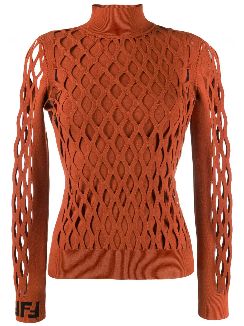 Autumn colors 2019, clay, clay sweater, Fendi mesh effect sweater