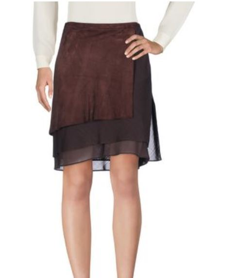 Autumn colors 2019, cocoa color clothing, Brunello Cucinelli cocoa skirt