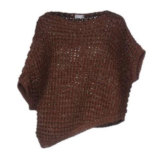 Autumn 2019 colors, cocoa clothing, Brunello Cucinelli cocoa mesh sweater