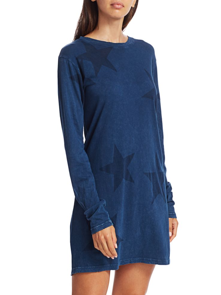 Fall Into Autumn Colors, blue depths, deep blue dress, Current/Elliott tshirt blue dress