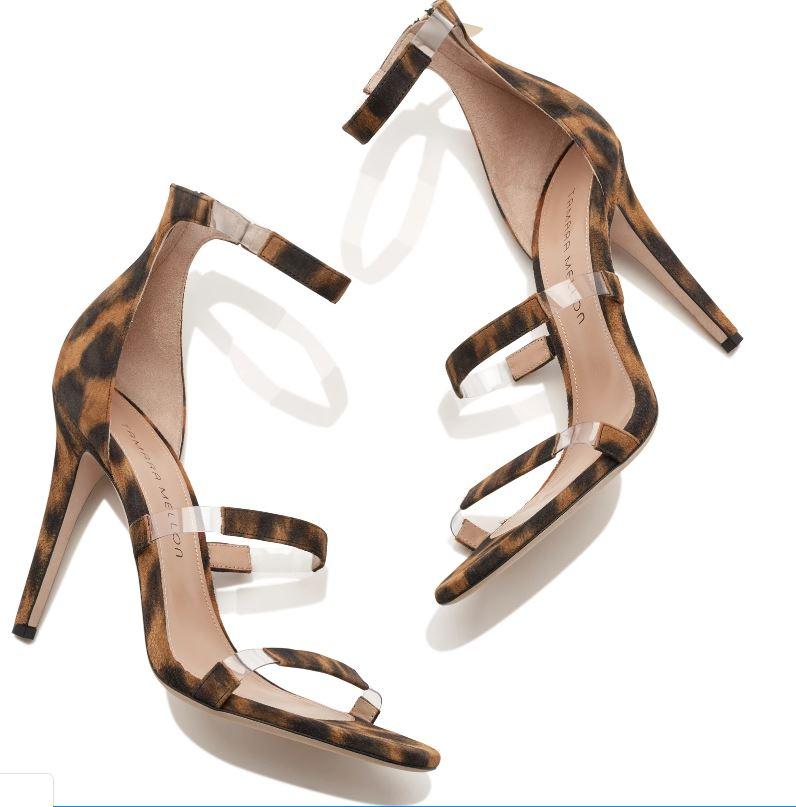 Ease Your Wardrobe Into Fall…Wear Now, Wear Later, acrylic heels, PVC heels, animal print high heels