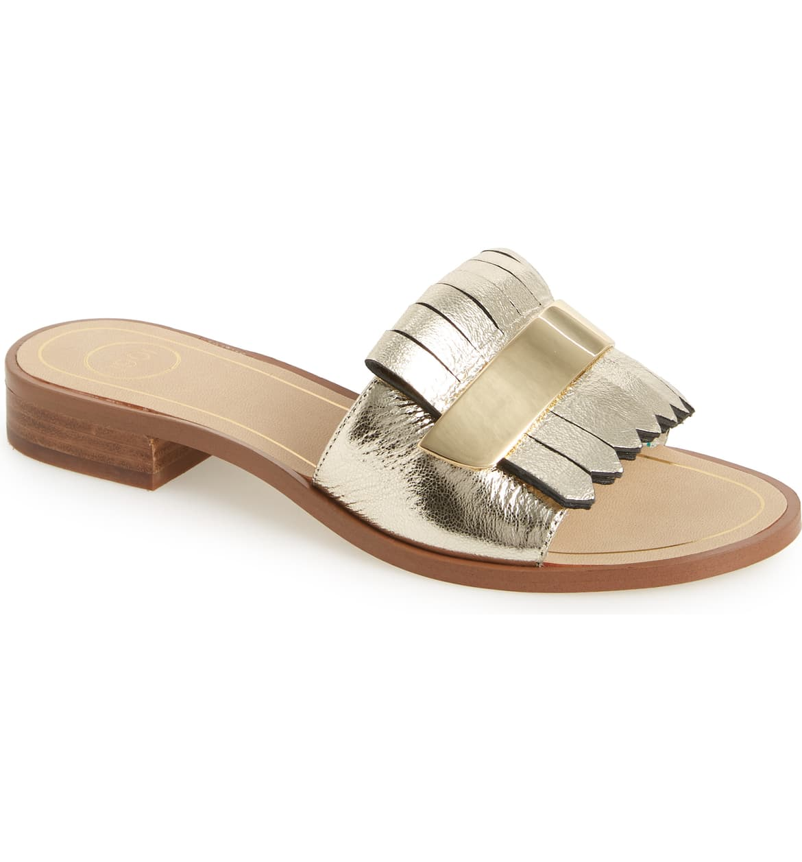 Ease Your Wardrobe Into Fall…Wear Now, Wear Later, metallic slides