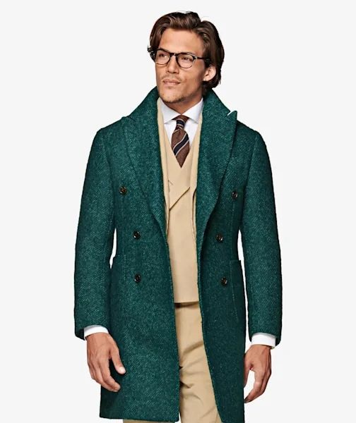 Get an Edge Up on Fall Outerwear, bold topcoats, green cashmere Suit Supply topcoat