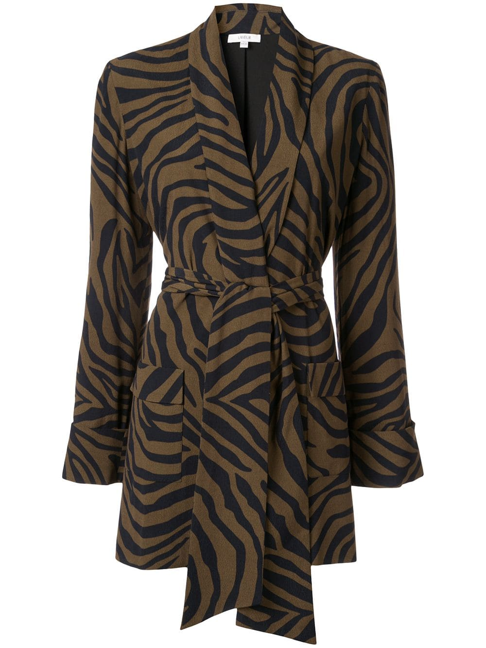 Get an Edge Up on Fall Outerwear, fall 2019 jacket trends, women's animal print jackets, LAYEUR zebra print jacket