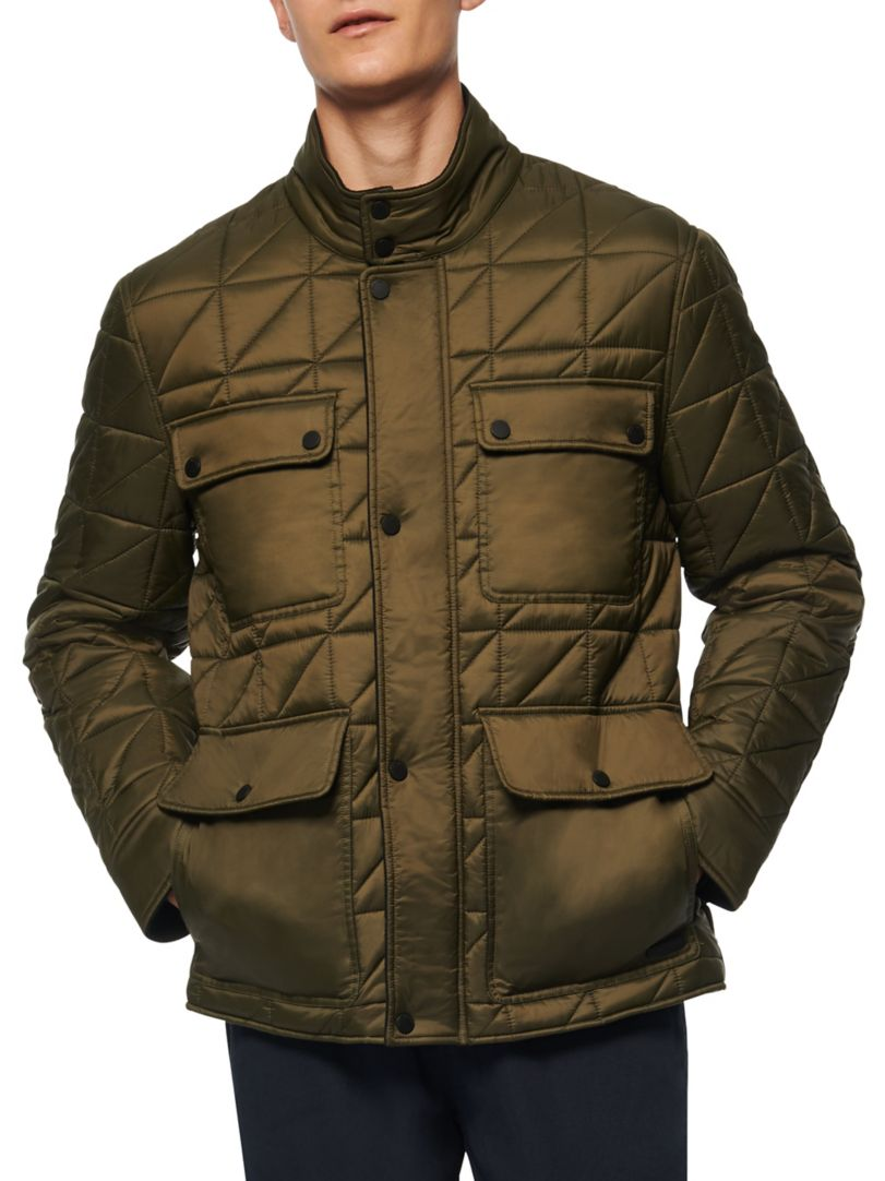 Get an Edge Up on Fall Outerwear, men's puffer jacket, Marc New York brickfield quilted jacket