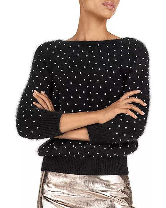 How to Layer Fall Outfits, ba&sh Amby Embellished Sweater