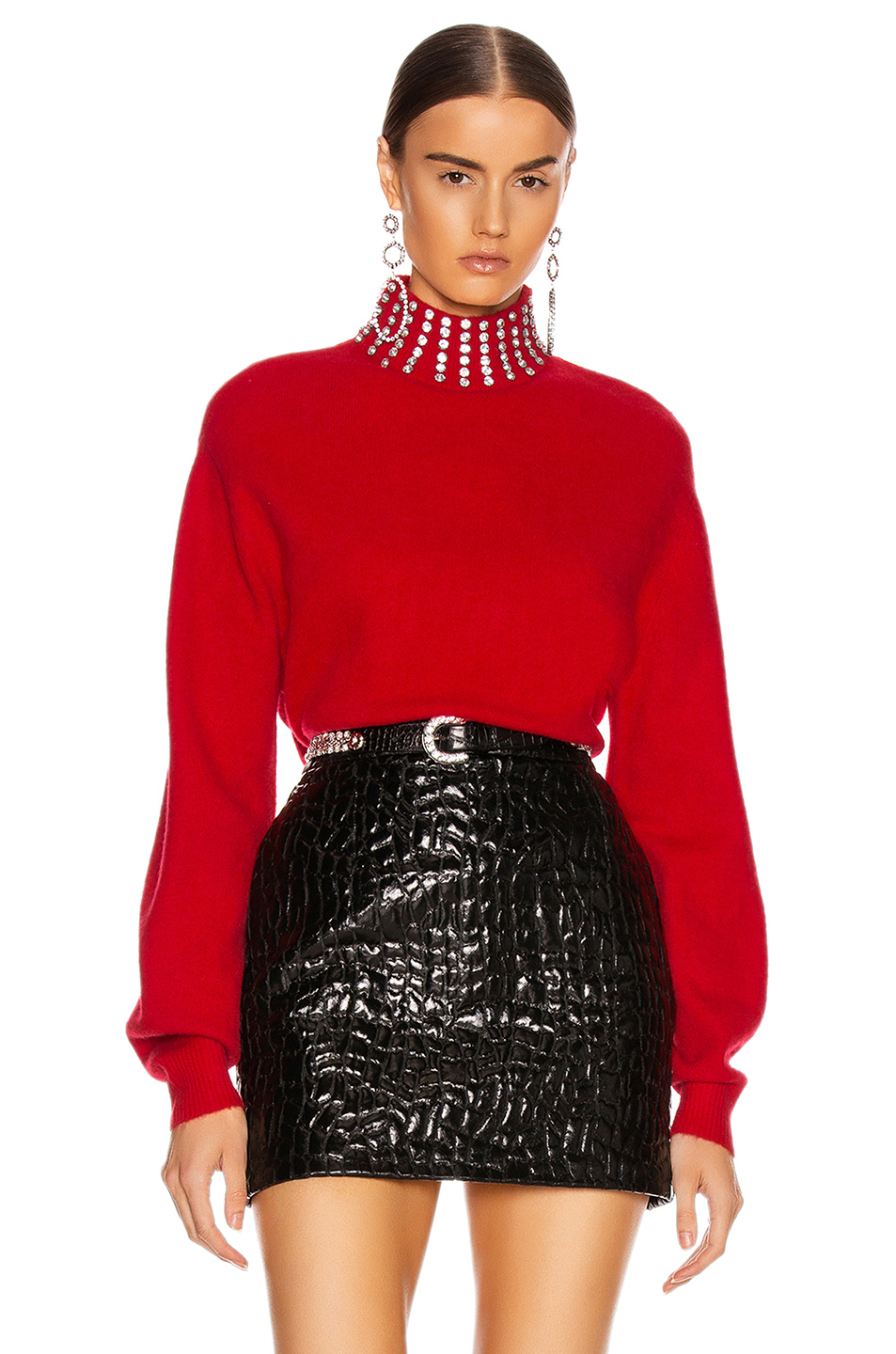 How to Layer Your Look for Fall, GRLFRND katherine red embellished sweater