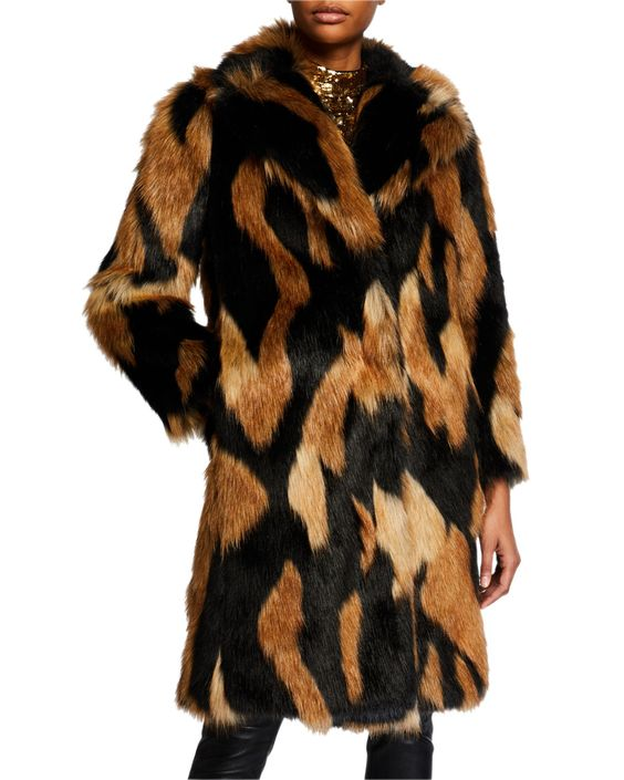 How to Layer for Fall, Alice + Olivia foster long faux-fur coat