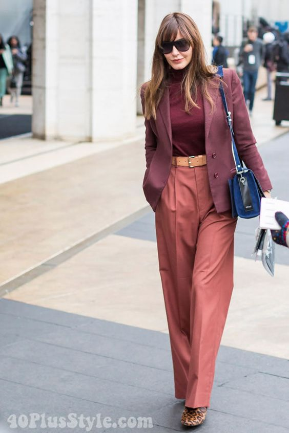 Tonal Dressing, shades of burgundy and pinkoutfit