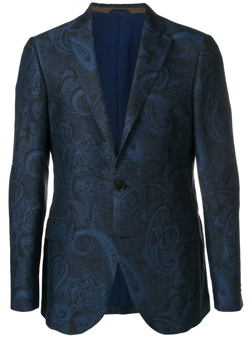 5 Trendy New Years Eve Outfits for Women and Men, men's print dinner jacket, ETRO blue paisley print blazer