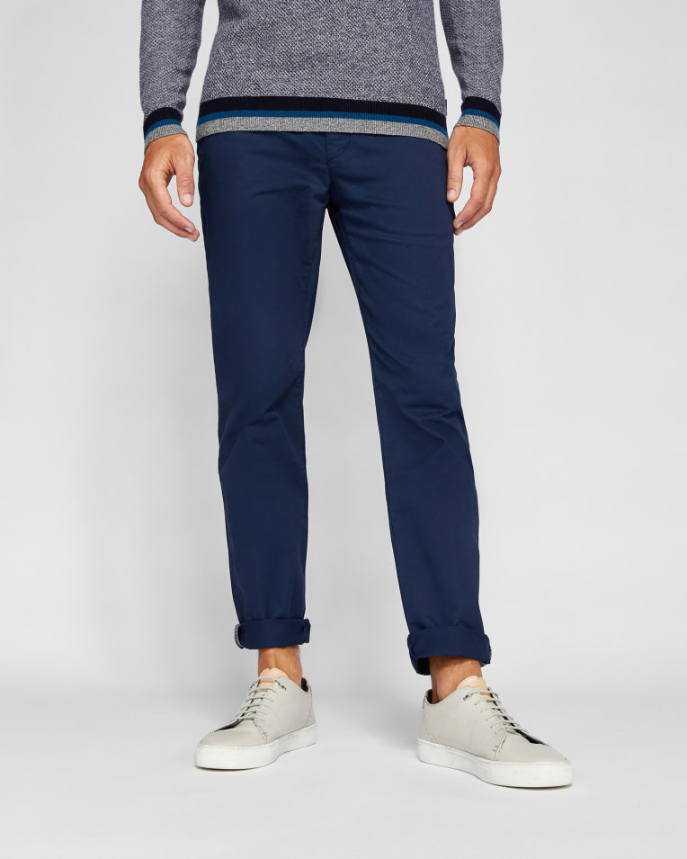 Stylish Looks for Holiday Travel, men's holiday resort outfits, men's blue chinos, Ted Baker SERNY slim fit chinos blue