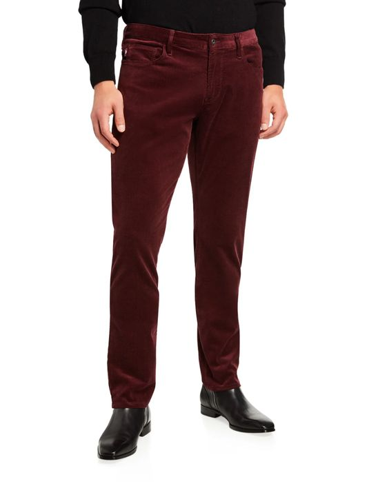 Stylish Looks for Holiday Travel, men's ski lodge outfit, Emporio Armani men's corduroy pants