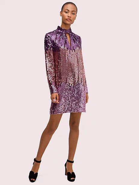 What to Wear this Holiday Season, sequin dresses, Kate Spade purple ombre sequin dress