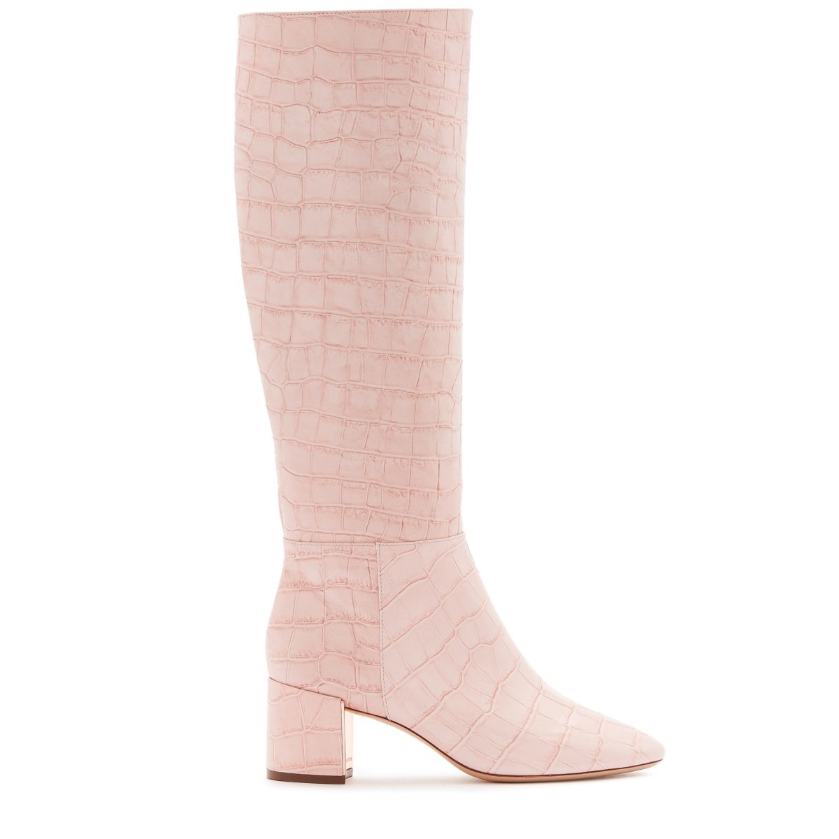 How to Dress Monochromatic in a Modern Way, pale pink monochromatic outfit, Sophia Webster Toni Knee High Boots