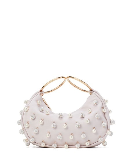 How to do Monochromatic in a Modern Way, monochromatic pale pink outfit, kate spade new york collins pearl pave light pink handbag