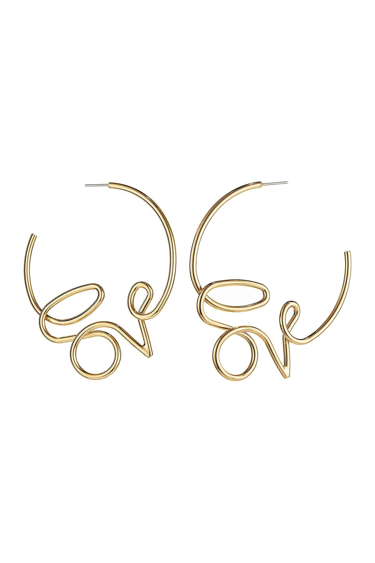 It's A Date: Flirty Looks + Gifts for Valentine's Day, Galentine's Gifts, Jenny Bird Love hoop earrings