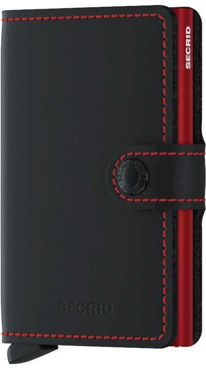 It's A Date: Flirty Looks + Gifts for Valentine's Day, Valentines Day Gifts for Him, Segrid mini wallet matte black and red, men's wallet, men's bill fold