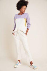 women's loungewear, colorblock sweatshirt