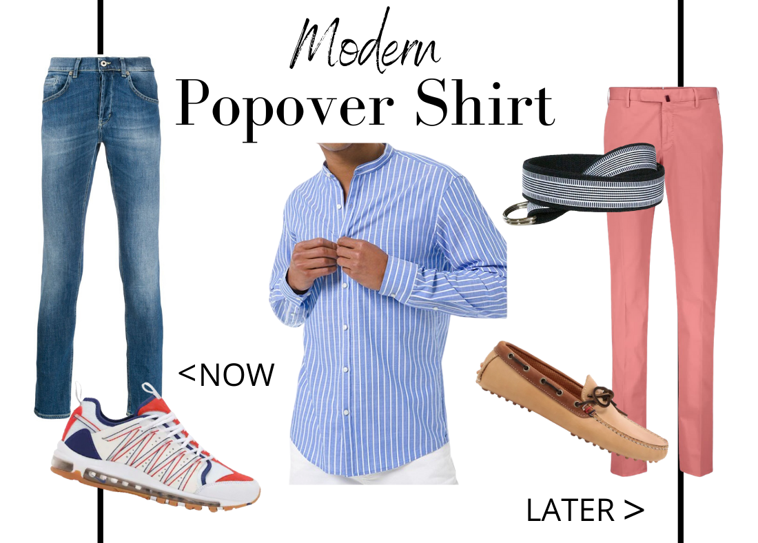 Key Closet Essentials to Wear Now Then Later Men's Popover Shirt