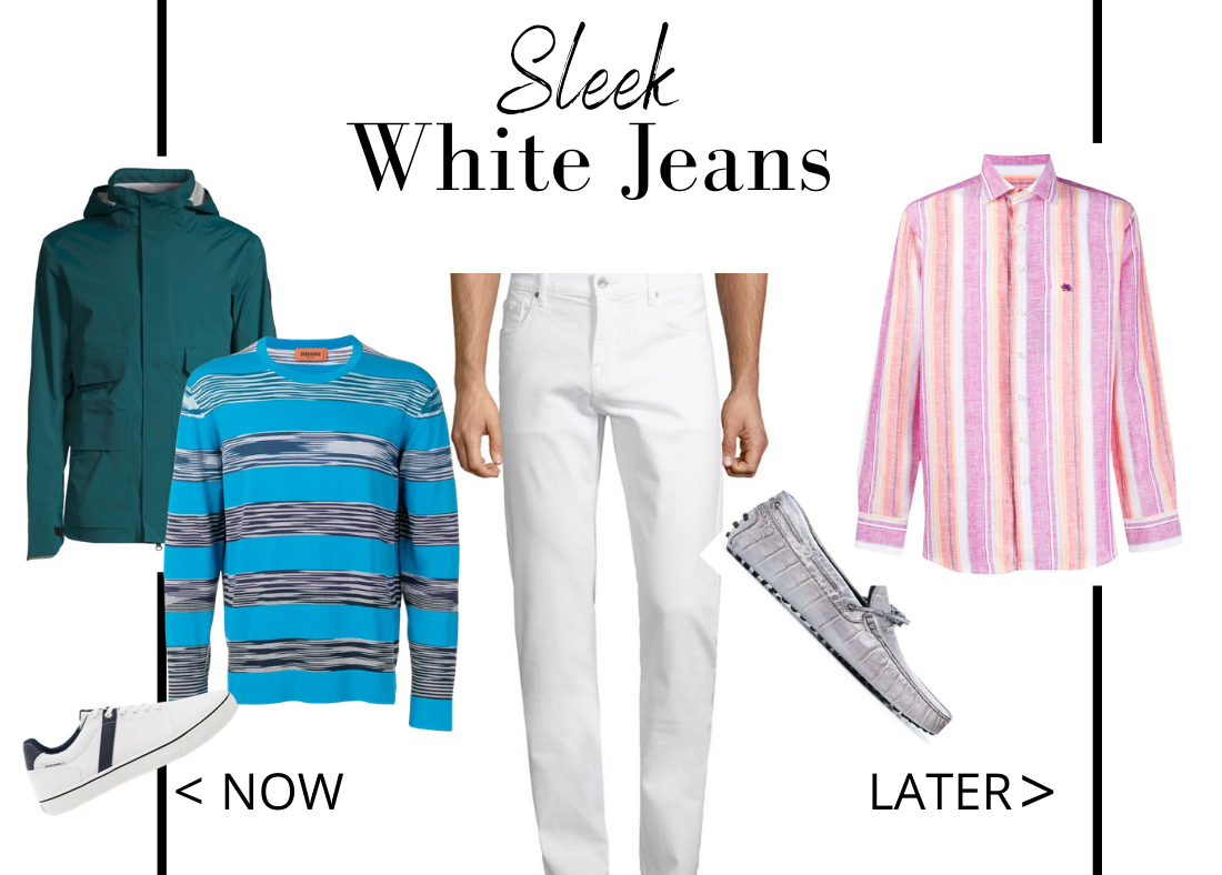 Key Essentials to Wear Now Then Later Men's White Jeans