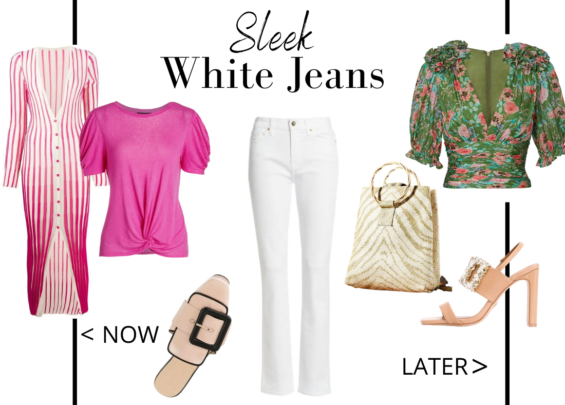 Key Essentials to Wear Now Then Later Women's White Jeans
