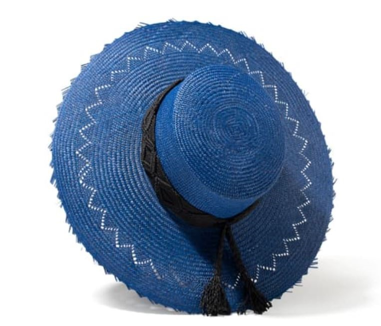 Summer Must-Have Accessories, wide brim straw hat, blue straw hat by P'OOK by Arlop