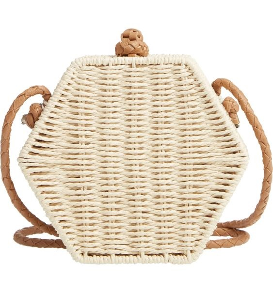 Summer Must-Have Accessories, woven bag, Mali + Lili Lexi Woven Crossbody Bag natural color