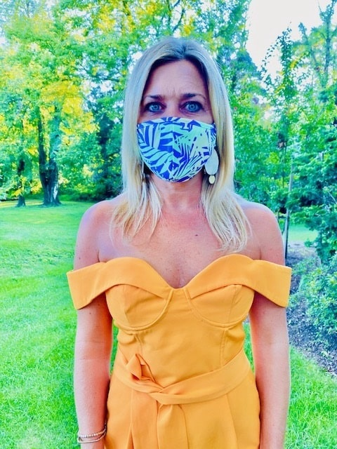 Masked In Style...Trendy Face Masks to Wear, Maaji print face mask, leaf print face mask, Divine Style