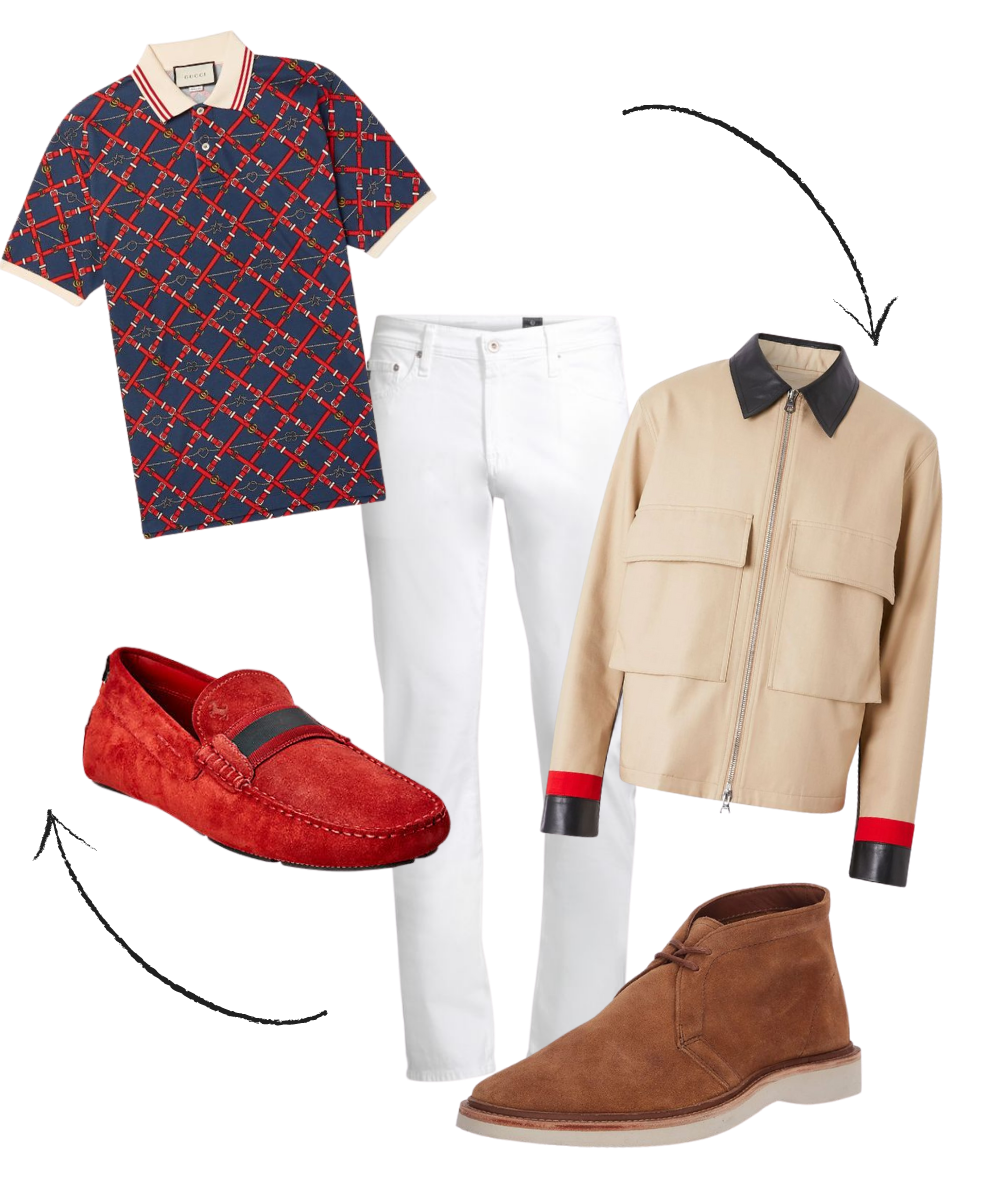 How to Transition Summer Pieces to Fall, men's white jeans, wear now wear later