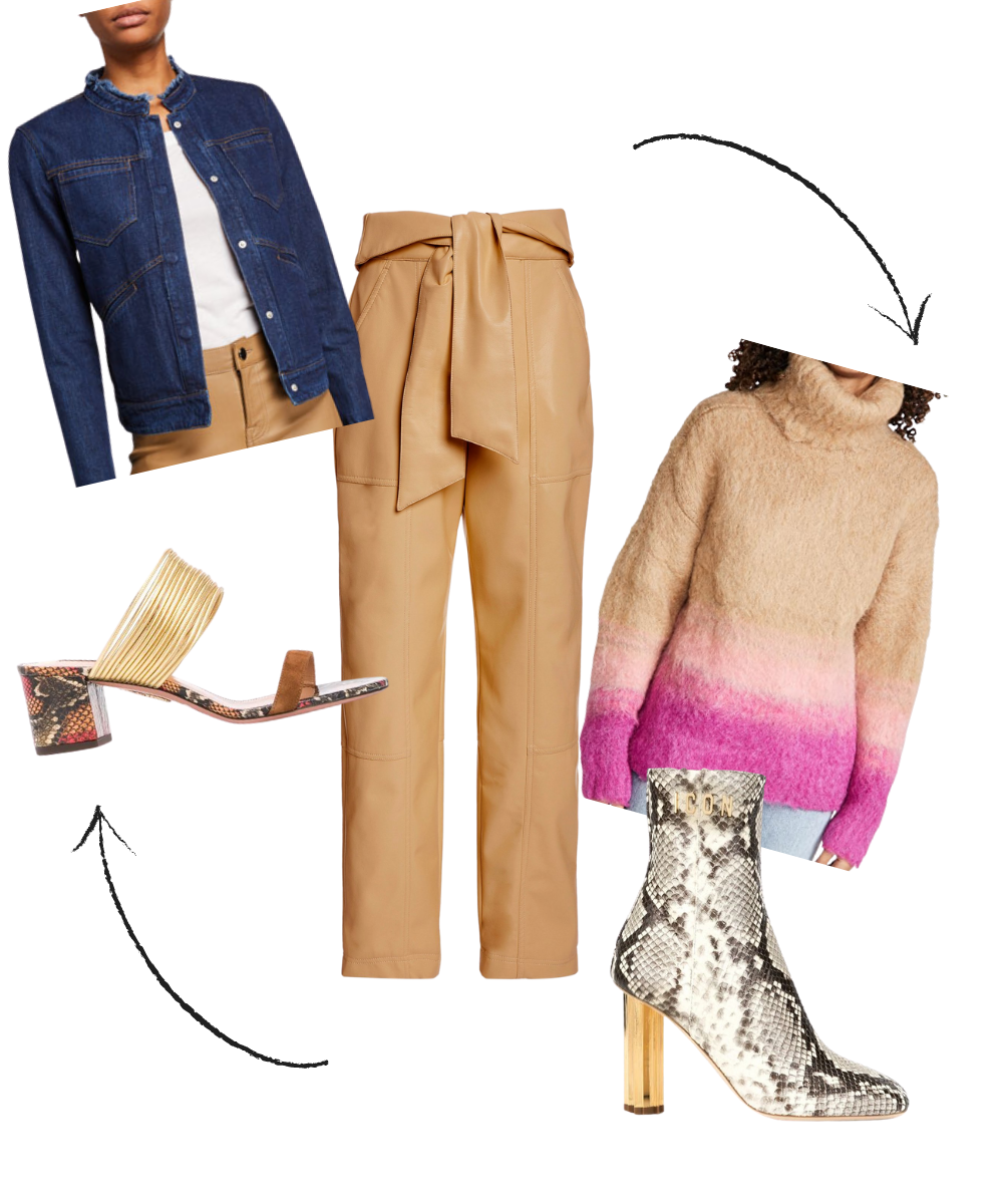 How to Transition Summer Pieces to Fall, women's cropped pants, women's tan leather pants