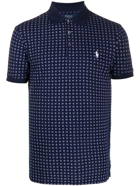 Sunny and Stylish Labor Day Weekend Outfits, Al Fresco BBQ outfits, men's BBQ outfit, Polo Ralph Lauren Paisley Print Polo Shirt Ss20