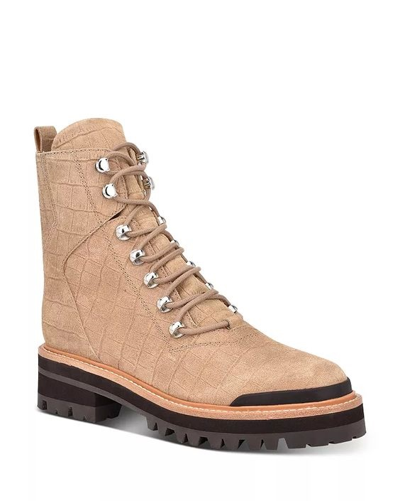 Shoe Trends Everyone Will Wear for Fall, Marc Fisher LTD. issie 2 suede combat boots in tan