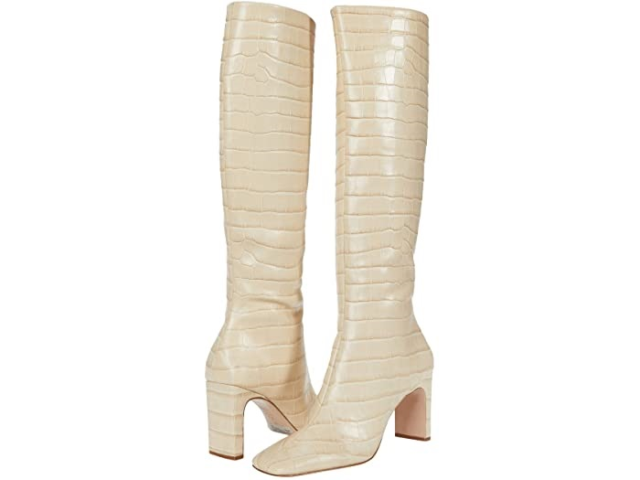 Shoe Trends Everyone Will Wear for Fall, neutral boots, Schutz daisy almond color boots