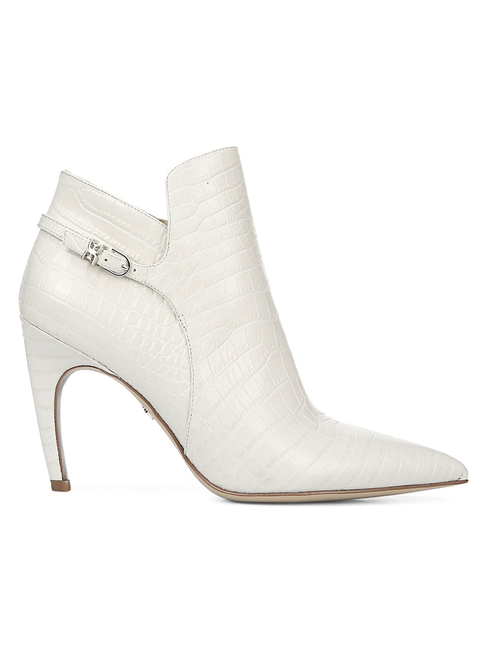 Shoe Trends Everyone Will Wear for Fall, neutral boots, white boots, Sam Edelman fiora snakeskin embossed ivory leather ankle boots