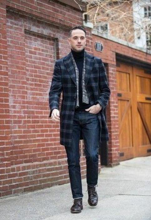 Power Outerwear, plaid coats, men's plaid overcoat outfit