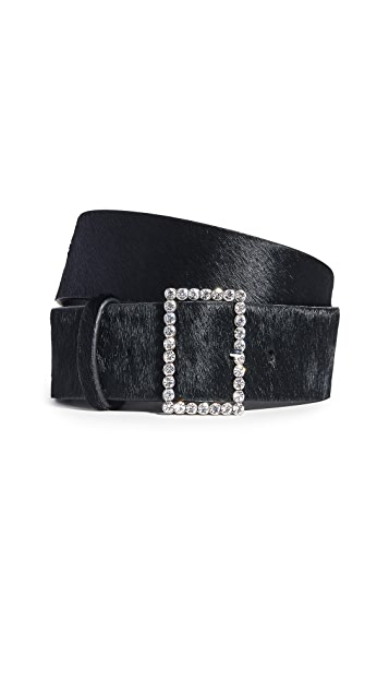 Power Outerwear...Cool Coats for Cool Days, belted in style, belting a coat, Luv Aj statement crystal belt buckle black