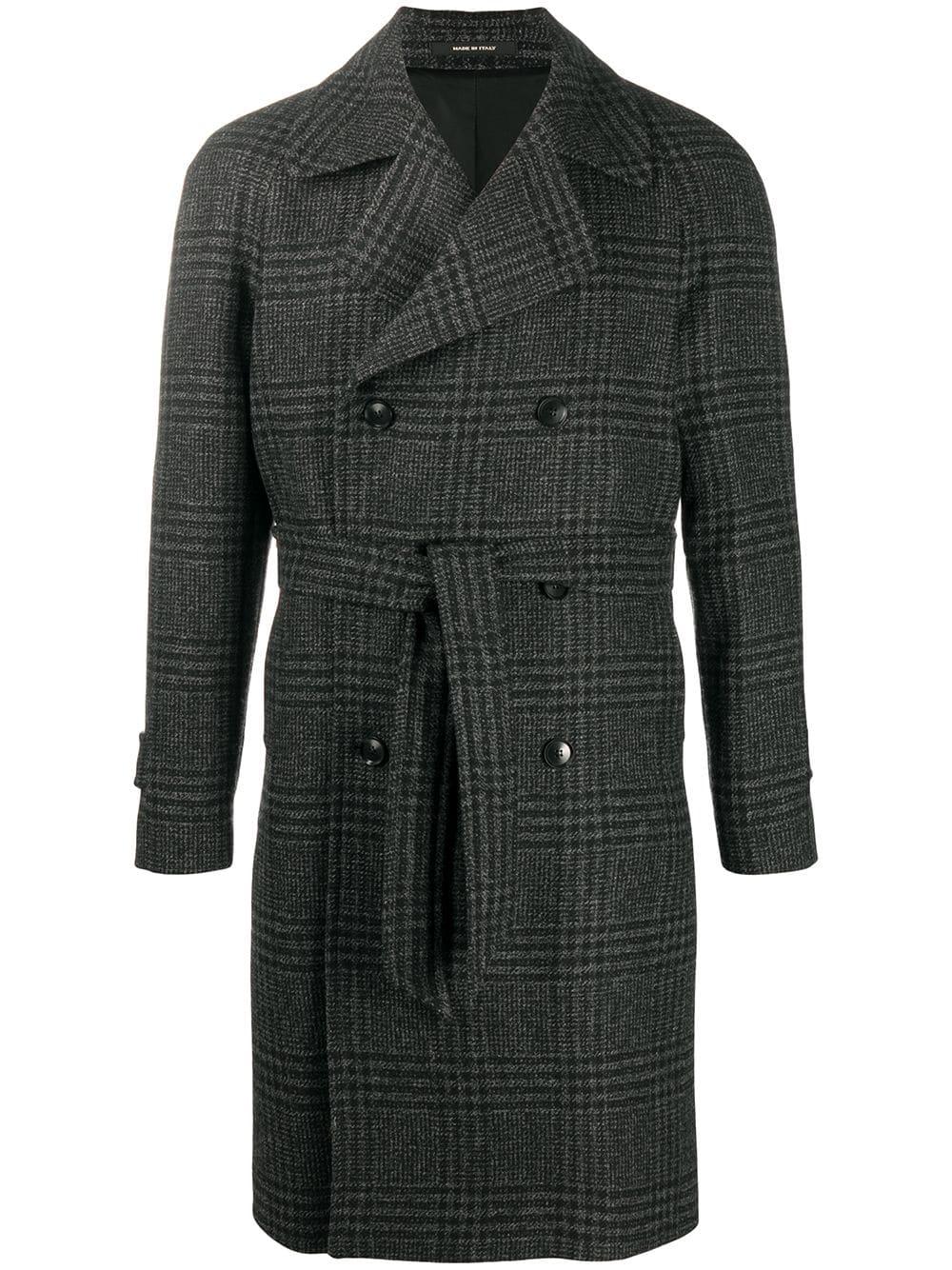 Power Outerwear...Cool Coats for Cool Days, men's plaid coats, men's plaid jackets, Tagliatore men's plaid check wool trench coat