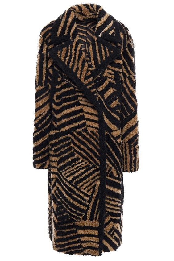 Power Outerwear...Cool Coats for Cool Days, print coats, YVES SALOMON tiger-print shearling coat