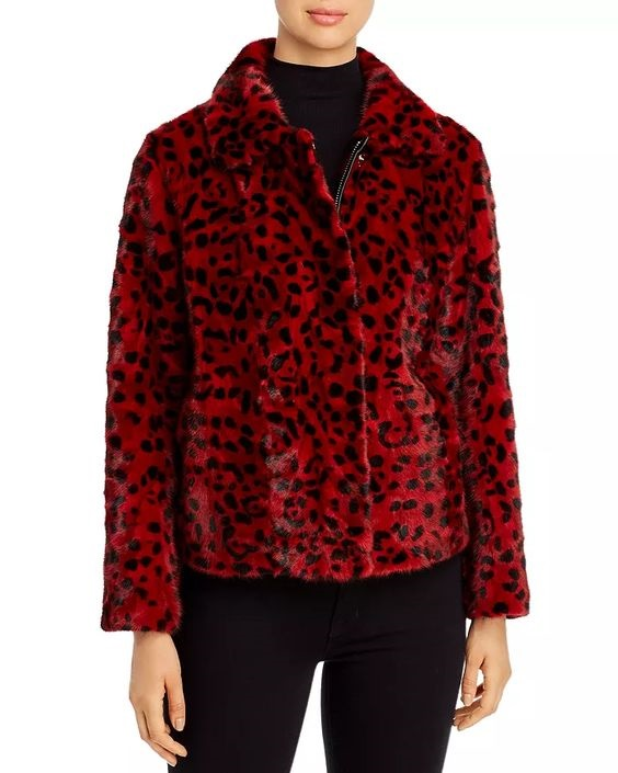 Power Outerwear...Cool Coats for Cool Days, print coats, print jackets, Maximilian Furs red leopard print mink fur coat