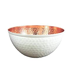 Divine Style Amazon Picks for Kitchen, copper and white hammered mixing bowls