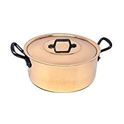 Divine Style Amazon Picks for kitchen, Baumalu Copper Pot, 20 cm