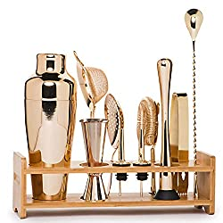 Divine Style Amazon home decor, 11 Piece Champagne Light Gold Bar Set