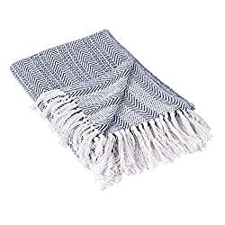 Divine Style Amazon home decor, Herringbone Striped Throw Blanket