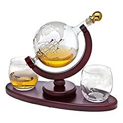 Divine Style Amazon home decor, Whiskey Decanter Globe Set
