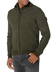Divine Style Amazon menswear, Hugo Boss olive green zip up sweater