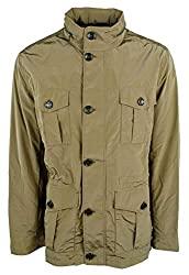 Divine Style Amazon menswear, men's Michael Kors 4 pocket nylon jacket olive