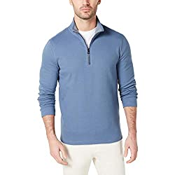 Divine Style Amazon menswear, men's Michael Kors blue pique pullover sweater