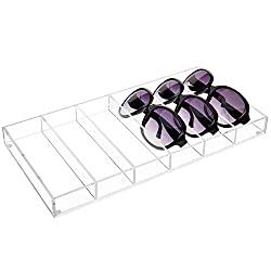 Divine Style Amazon organization/closet products, Clear Acrylic Sunglasses/Eye Glasses Display Tray